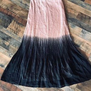 💐 mark. Ombre Blush Accordian Pleated Maxi Skirt